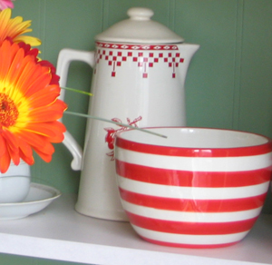 crockery in hutch